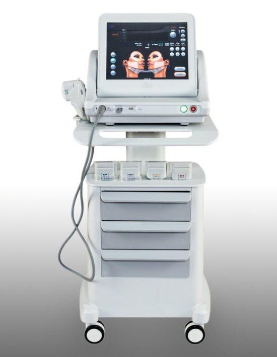 Косметологический аппарат HIFU для салонов красоты, HIFU-SMAS-лифтинг, омоложение кожи (3 картриджа)