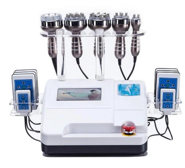 6 в 1 Кавитация, RF, Вакуум+RF, Лазерный липолиз WL-675A. Вакуумный массаж - аппараты, оборудование для вибромассажа